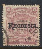 British South Africa Company / Rhodesia  SG 106 Used OPT  Rhodesia see scan
