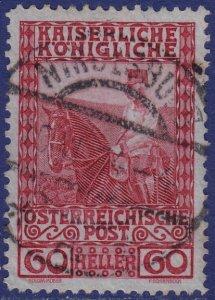 Austria - 1908 - Scott #122 - used - NIKOLSBURG pmk Czech Republic