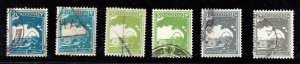 Lot of 6 Palestine (British Mandate) Stamps Issued 1927. Mi: 52, 53, 62A