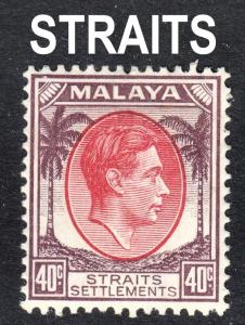 Malaya Straits Settlements Scott 248  F to VF mint OG HH.