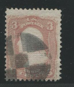 1868 United States Postage Stamp #85 Used Average Cork Cancel D. Grill Certified