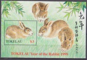 1999 Tokelau 275/B16 Year of the Rabbit