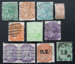 Packet, Australia, South Australia, 9 Stamps, mint/used
