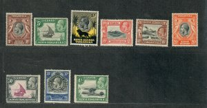 Kenya Uganda Tanz Sc#46-54 M/LH+NH/VF, Cv. $20.60