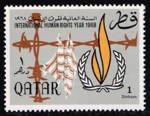 Qatar #128 Human Rights Year; MNH (0.60)
