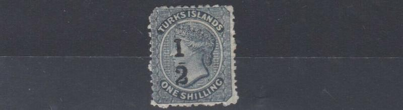 TURKS & CAICOS   SG 11C 1/2 ON 1/-  MH  SOME GUM A LITTLE SOILED ON BACK C £1200
