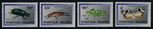 Norfolk Island 448-51 MNH Insects