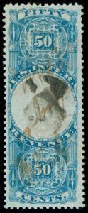 momen: US Stamps #R115b Used INVERTED CENTER Revenue VF PF Cert