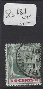 MAURITIUS   (P0810B)   ARMS  6C   SG 131   VFU