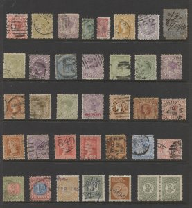 STAMP STATION PERTH Victoria #Page of Victorian Used & Mint 36 Unchecked