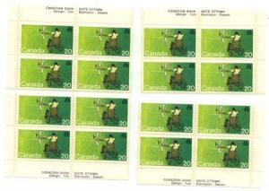 Canada - 1976 20c Handicapped Olympics Blocks mint #694