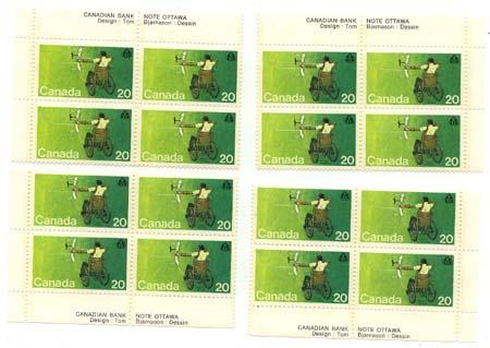 Canada - 1976 20c Handicapped Olympics Blocks mint #694