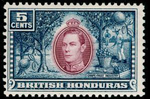 BRITISH HONDURAS SG154, 5c mauve & dull blue, UNMOUNTED MINT.
