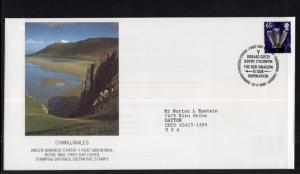 Great Britain Wales 23 Typed FDC