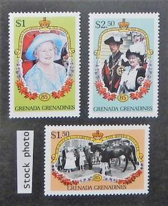 Grenada Grenadines 682-84. 1985 Queen Mother Birthday, NH