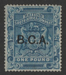 BRITISH CENTRAL AFRICA : 1891 BCA on Arms £1. RARE GENUINE!