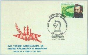 89838 -  HAVANA - POSTAL HISTORY - SPECIAL COVER & postmark  1983  CHESS