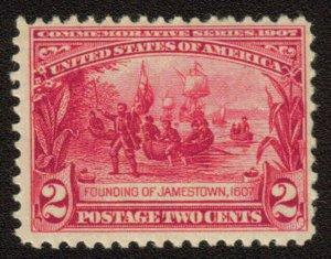 MALACK 329 VF OG NH, bold color, nice stamp t1002
