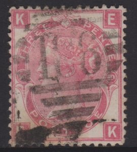 Great Britain Sc#49a Plate 10 Used in Ireland Postmark 186