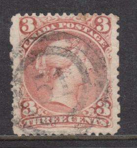 Canada #25 Used With Ideal 2 Ring 51 Cancel On Blotting Paper (9a)