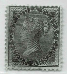 INDIA QV 1855- SG NO 35  4ASBLACK - MM CV 1400 GBP