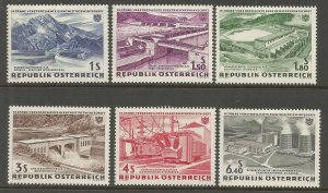 AUSTRIA  676-681  HINGED,  HYDROELECTRIC POWER PLANTS