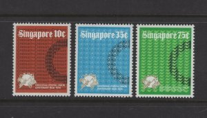 Singapore #212-14 (1974 UPU set)  VFMNH CV $4.00