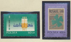 Poland Stamps Scott #1322 To 1323, Mint Hinged - Free U.S. Shipping, Free Wor...