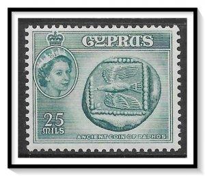 Cyprus #174 QE II & Coins MH