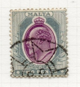 Malta 1904-14 Early Issue Fine Used SHADE OF 2d. 325524