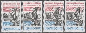 Luxembourg #703-6  MNH F-VF  (SU3704)