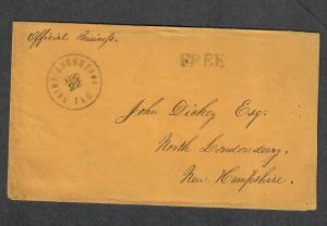 St. Augustine Civil War Union Cover Official Business Free Aug 22