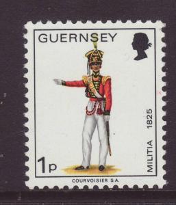 1974 Guernsey 1p Defin U/Mint SG99