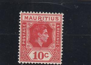 Mauritius  Scott#  215  MH