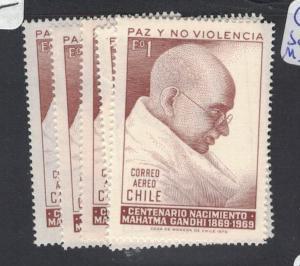 Chile Gandhi SC C301 X 6 MNH (1dqd)