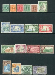 JAMAICA-1938-52 Set to £1 Sg 121-133a FINE USED V20669