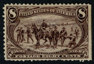 US #289 SCV $300.00 XF mint hinged, larger than normal seen margins,  well ce...