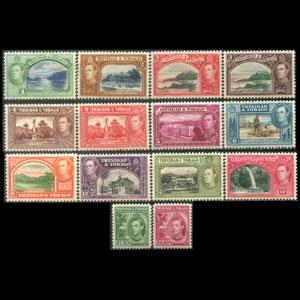 TRINIDAD 1938 - Scott# 50-61 Views Set of 14 NH two LH