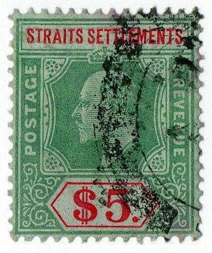 (I.B) Malaya (Straits Settlements) Revenue : Duty Stamp $5