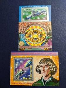 Equatorial Guinea Mi blk 93-4 XFNH Copernicus souvenir sheets, CV $10
