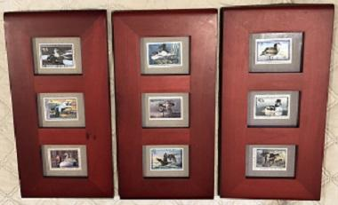RW58 - RW66 Duck Stamps Mint in Frames