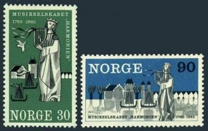 Norway 477-478,MNH.Michel 534-535. Bergen philharmonic society,1965.