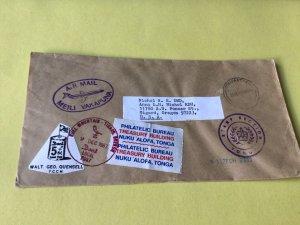 Nuku Alofa Tonga Local post  Stamps Cover Ref 53804