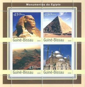 GUINEA BISSAU 2003 SHEET MONUMENTS OF EGYPT PYRAMIDS