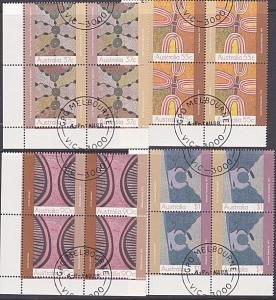 AUSTRALIA 1988 art of the Dessert set blocks of 4 used - cto................3859