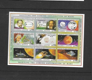 Sierra Leone 1990 Mars Exploration M/sheet u/mint