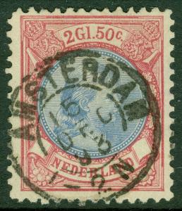 EDW1949SELL : NETHERLANDS 1893 Scott #53 Very Fine, Used. Choice stamp. Cat $125