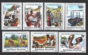 Rwanda. 1981. 1152-58. Gazelles fauna water resources. MNH.