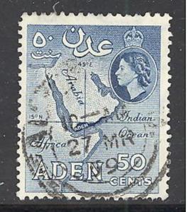 Aden  Sc # 53a, SG # 59a used (DT)