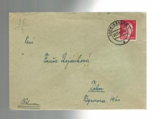 1942 Germany Ludwigsburg Gestapo Prison Cover with Letter to BM Wenzel Stojanek